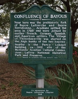 Confluence Of Bayous Marker image. Click for full size.