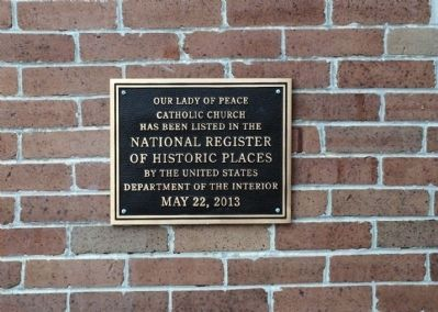Register of Historic Places plaque image. Click for full size.