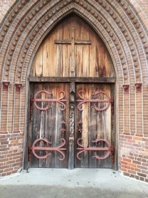 Church entrance doors. image. Click for full size.