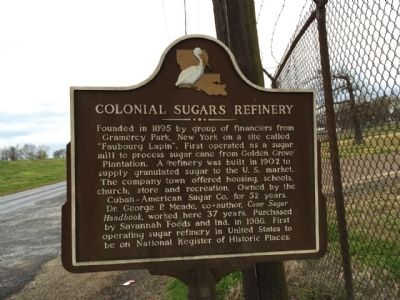 Colonial Sugars Refinery Marker image. Click for full size.