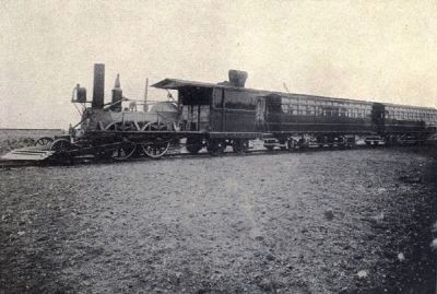 "The historic ""John Bull"" of the Camden & Amboy Railroad—and its train image. Click for full size."