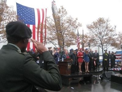 World War II Memorial dedication ceremony on November 8, 2008 image. Click for full size.