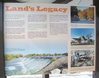 Land's Legacy Marker image. Click for full size.
