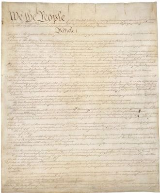 Page 1 of the Constitution image. Click for full size.