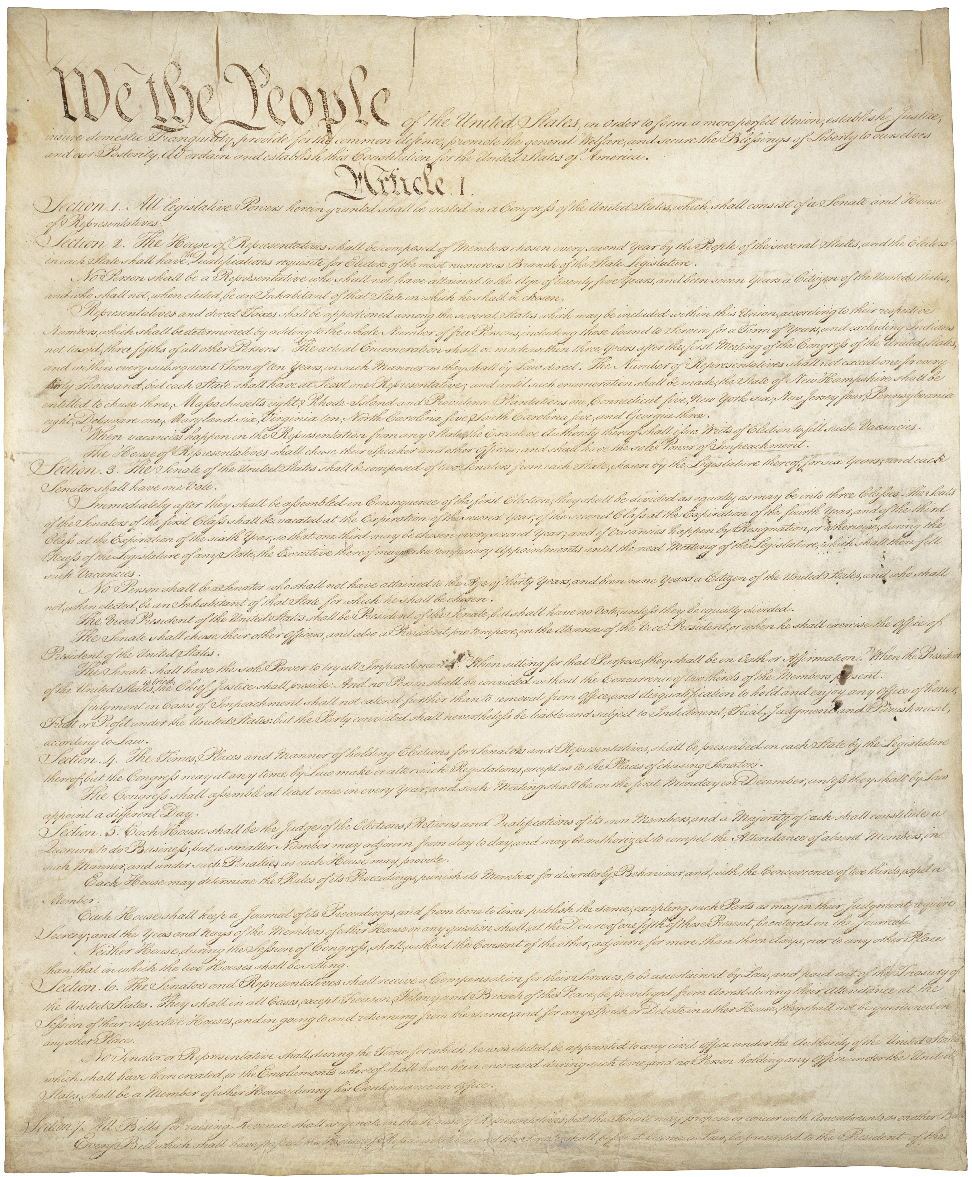 Page 1 of the Constitution