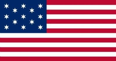 One of the original 1777 Flags. image. Click for full size.