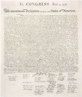 The Declaration of Independence image. Click for full size.