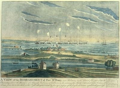 Bombardment of Fort McHenry image. Click for full size.