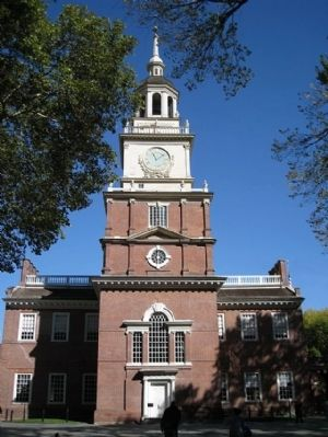 Independence Hall Clocktower image. Click for full size.