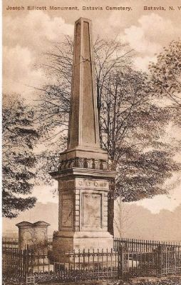 Joseph Ellicott monument image. Click for full size.