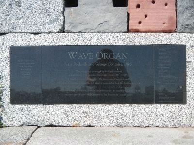 The Wave Organ plaque image. Click for full size.
