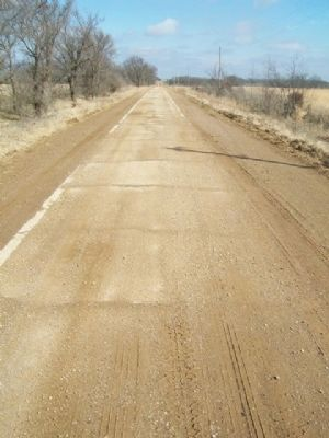 Historic Route 66 Original Nine-Foot Section (140th Road) image. Click for full size.