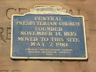 Central Presbyterian Church Marker image. Click for full size.