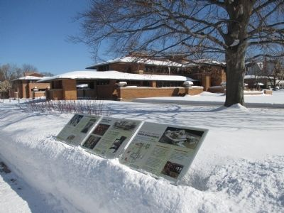 Frank Lloyd Wright's Martin House Complex and Marker image. Click for full size.