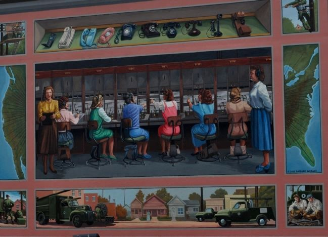 The Paducah Telephone Pioneers Switchboard Mural image. Click for full size.