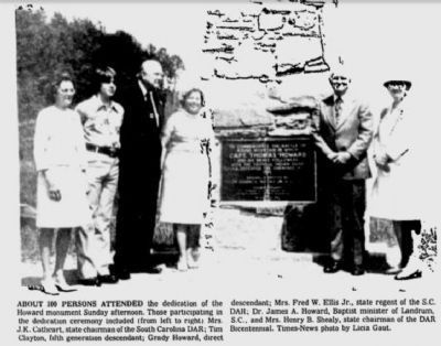 Dedication of Battle of Round Mountain Marker in 1977 image. Click for full size.