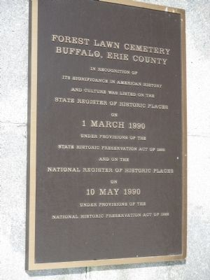 Forest Lawn Cemetery Register of Historic Places Plaque image. Click for full size.