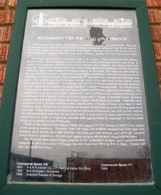 Restoring the Whiting Apartments Marker image. Click for full size.