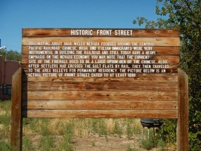Historic Front Street Marker image. Click for full size.