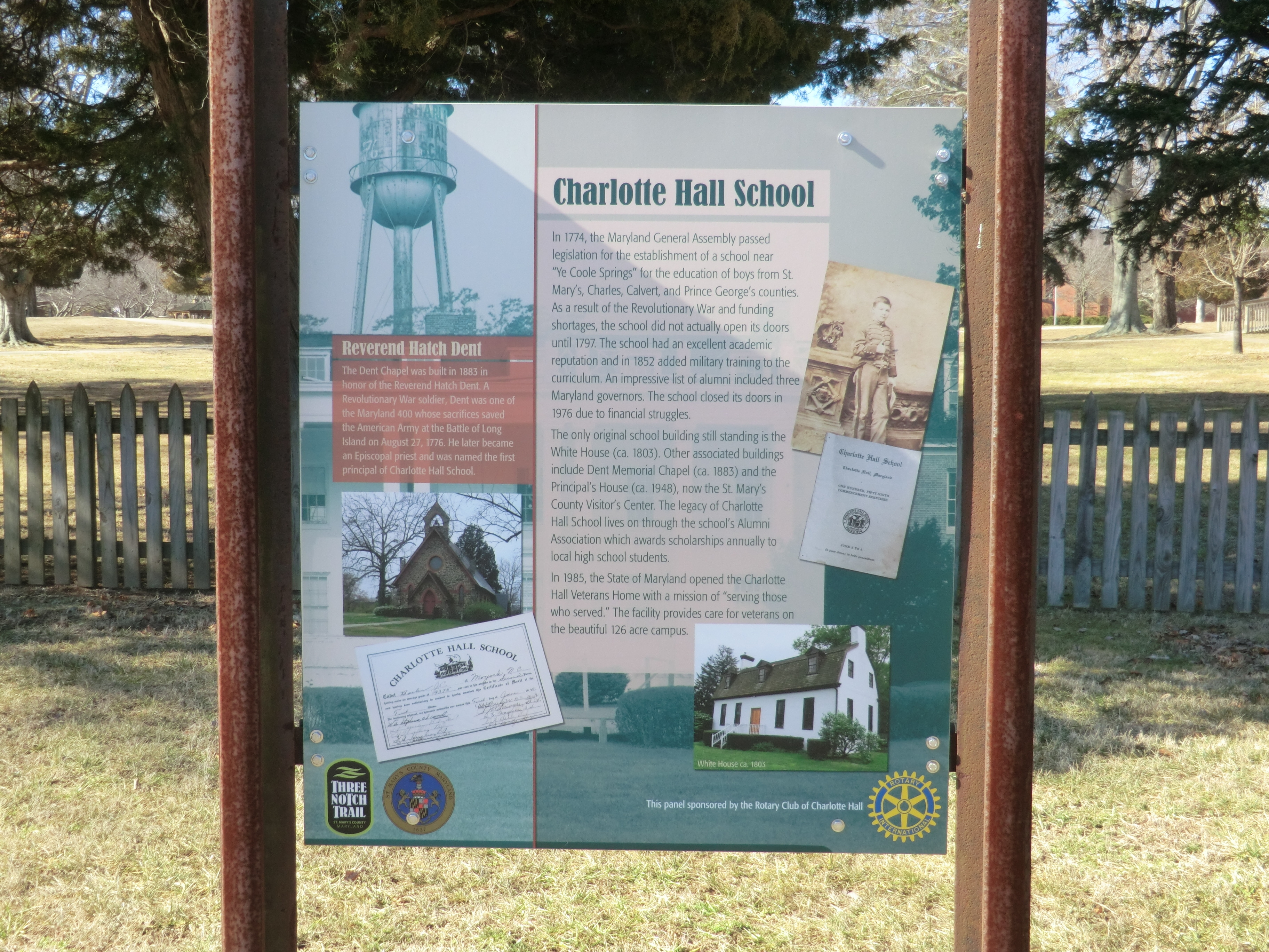 Charlotte Hall School Marker