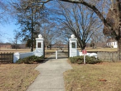 Charlotte Hall School-Veterans Home entrance gate image. Click for full size.