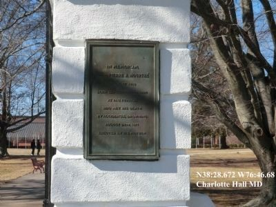 Charlotte Hall School-Marker on the entrance gate image. Click for full size.