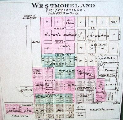 Plat Map on Westmoreland, Kansas Marker image. Click for full size.