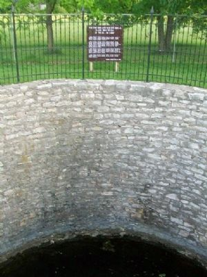 Westmoreland's Historical Hand Dug Well and Marker image. Click for full size.