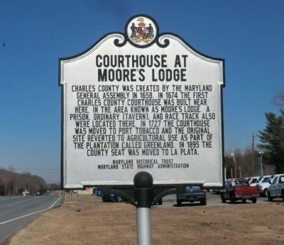 Courthouse at Moore's Lodge Marker image. Click for full size.