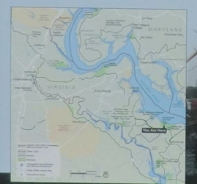 Close up of the map on the Putting the Potomac on the Map Marker image. Click for full size.