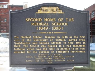 Second Home of the Medical School Marker image. Click for full size.