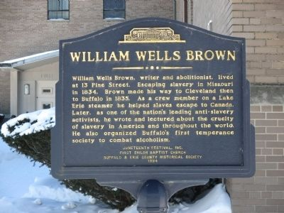 William Wells Brown Marker image. Click for full size.