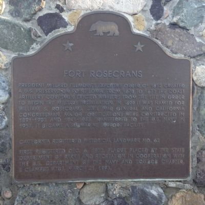 Fort Rosecrans Marker image. Click for full size.