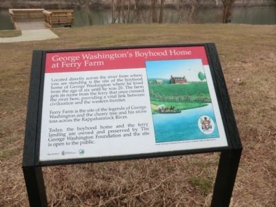 George Washington's Boyhood Home at Ferry Point Marker image. Click for full size.