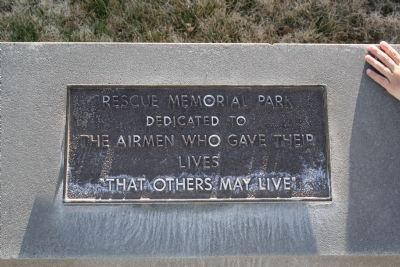 Rescue Memorial Park Upper Plaque image. Click for full size.
