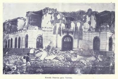 Destruction of the Practical School for Young Men and future site of the Botanical Garden. image. Click for full size.