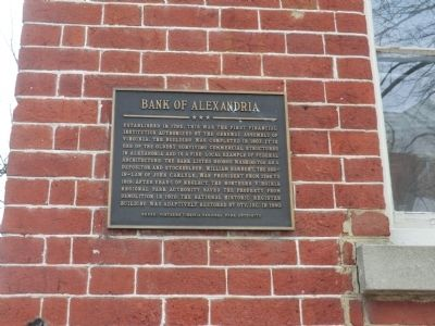 Bank of Alexandria Marker image. Click for full size.