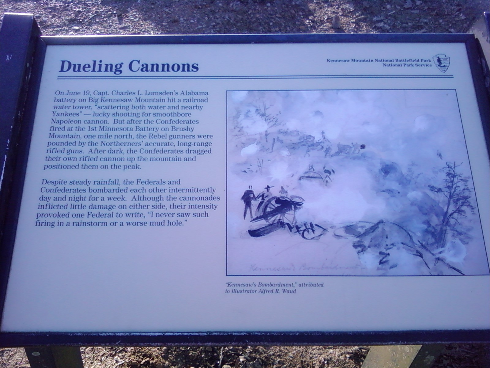 Dueling Cannons Marker