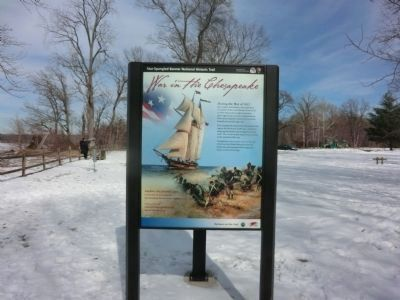 War in the Chesapeake Marker (Panel 1) image. Click for full size.
