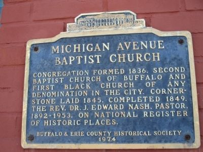 Michigan Avenue Baptist Church Marker image. Click for full size.
