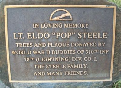 "Lt. Eldo ""Pop"" Steele Marker image. Click for full size."
