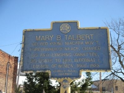 Mary B. Talbert Marker image. Click for full size.