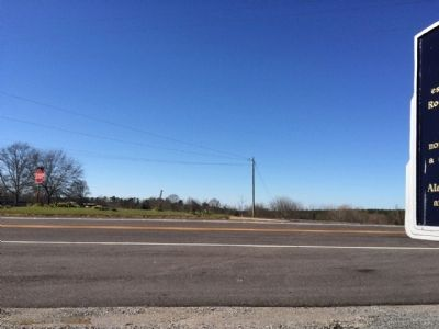 The view of marker looking west towards highway 47. image. Click for full size.