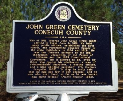 John Green Cemetery Marker image. Click for full size.