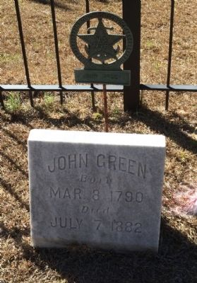 John Green grave marker (1790-1882) image. Click for full size.