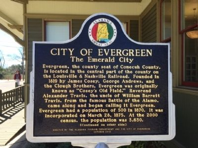 City of Evergreen Marker (Side 1) image. Click for full size.