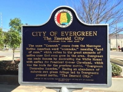 City of Evergreen Marker (Side 2) image. Click for full size.