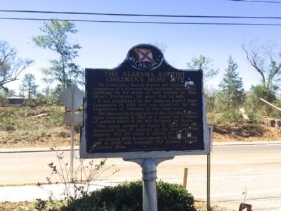 View of marker looking west across Main Street. image. Click for full size.