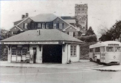 PCC Streetcar at the Overlea Waiting Station. image. Click for full size.
