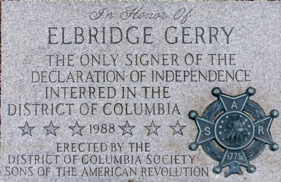 Elbridge Gerry Marker image. Click for full size.